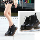 Women's Motorcycle Punk Martin Boots Platform Ankle Boots Autumn Winter Shoes