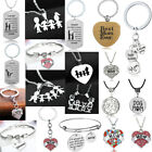 Gift Mom Women Mommy And Son Daughter Mothers Birthday Gift Her Necklace Family