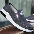 Mens Casual Canvas Breathable Sneakers Driving Loafers Slip on Shoes US