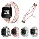 Women Fo Fitbit Versa lite 2 Watch Strap Agate Beads Chain Stretch Bracelet Band image