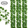 Artificial Greenry Plants Leaves Fake Vine Hanging Set of 12 Wedding Party Decor