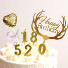 Number 0-9 Gold Candle Baking Cake Decoration Happy Birthday Party Supplies New