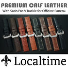 Localtime Premium Leather Watch Strap 20 22 24mm For PAM Panerai Luminor Marina