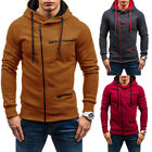 Hooded Zip Sweatshirt Coat Jacket Men's Hoodies Slim Fit Sweater Fashion Outwear