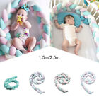 Внешний вид - Lovely Baby Soft Knot Pillow Braided Crib Bumper Decorative Bedding Cushion Déco