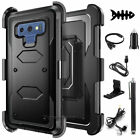 For Samsung Galaxy Note 9 Defender Black Phone Case Cover w/ Belt Clip Holster