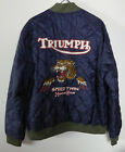 Lucky Brand Quilted Bomber Jacket Triumph Motorcycle Coat NWT $189 w/ Tiger Logo $182.26 CAD on eBay