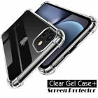 CLEAR Case For iPhone 11 Pro Max XR X XS Max 7 8 Plus Cover Silicone Shockproof