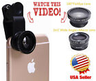 Universal 3 in 1 Cell Phone Camera Lens Kit - Fish Eye Lens/2 in 1 Macro Lens