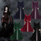 Women's Medieval Renaissance Vintage Gown Dress Halloween Party Cosplay Costume