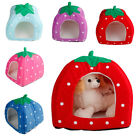 S M L Pet Dog Cat Bed House Foldable Kennel Cushion Basket For Strawberry 5