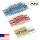 200Pcs Heat Shrink Solder Seal Butt Wire Connectors Splice Terminals Electrical