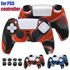 Silicone Cover Case Rubber Skin+8X Thumb Grips for Playstation 5 PS5 Controller