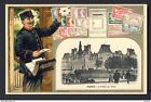PARIS - L'Hotel de Ville Postman letter pictures of early French stamps