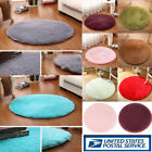 Kyпить Round Fluffy Rug Anti-Skid Shaggy Dining Room Bedroom Carpet Floor Comfortable на еВаy.соm