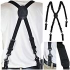 Police Duty Belt Suspenders Nylon Black Safety Equipment Durable Adjustable