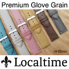 Localtime Premium Glove-Grain Italian Leather Watch Strap 18 20 22mm & 6 Colours
