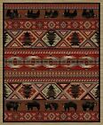 "Dean Lodge King Red Pine Rustic Bear Cabin Mountain Area Rug Size: 7'10"" x 9'10"""