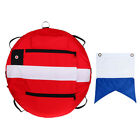 High Visible Freediving Buoy Float & Flag for Techinal Scuba Dive Snorkeling