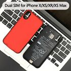 Dual SIM Dual Standby Bluetooth Power Bank Cover Case For iPhone X/XS/XR/XS