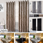 High Quality Crushed Velvet Ring Top Pair Curtains (2 Tie Backs) Or Duvet Covers