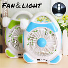 Portable USB LED Camping Fan Air Cooler Light Outdoor Tent Hiking Lantern Lamp