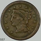 1850 1C N-? Braided Hair Cent