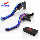 FXCNC 3D Electroplate Rhombus Short Brake Clutch Levers Adjustable For Triumph $34.39 USD on eBay