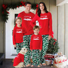 USA Christmas Family Matching Pajamas PJs Set Home Xmas Kids Sleepwear Nightwear
