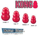 Kong Classic Rubber Dog Toy Best Fetch Chew Pet Puppy Treat Tough Ball All Sizes