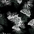 Kanvas/Benartex Black And Whites - Black Butterfly #8266-12
