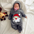 Newborn Baby Girl Boy Christmas Lively Soft Romper Hat Jumpsuit Outfit Outerwear
