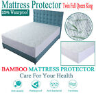 Mattress Protector Waterproof Bamboo Soft Hypoallergenic Fitted Mattress Cover E image