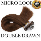 Micro Ring Beads Easy Loop Tip Real Remy Human Hair Extensions 100S 0.5g/s CN96