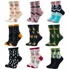 Women Cotton Crew Socks Casual Cute Design Funny Alien Pig Dog Cat Space Print $9.49 USD on eBay