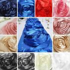 "13"" x 104"" Extra Large Silk Raised Roses on Satin Table Runner Dinner Decoration"