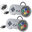 2x 1x USB Game Controller Gamepad For Nintendo SNES Classic Mini Edition Console
