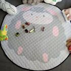 1.5m Baby Kids Play Mat Round Crawl Carpet Rug Pad Kid Toys Storage Pouch Bags