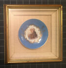 Louis XVI Portrait On Painted Porcelain Plate In Gilt Frame