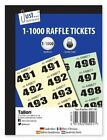 500 RAFFLE CLOAKROOM TICKETS SMALL COLOURED PADS DRAW BOOK COMES IN SIX COLOURS