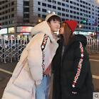 Womens Hooded Cotton Coat Long Thick Padded Couple Loose Bread Suit Jacket Ths01