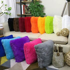 "18"" Soft Fur Plush Square Throw Pillow Cases Home Decor Sofa Waist Cushion Cover"