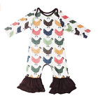 US Cute Newborn Baby Girl Flower Ruffle Romper Bodysuit Jumpsuit Outfits Clothes