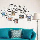 Removable Family Butterfly Photo Frame Wall Sticker Decal Wall Art Home Decor Ja