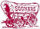 Oklahoma Sooners Wagon Logo Vinyl Decal / Sticker 5 Sizes!!!