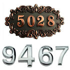 Modern House Numbers Plaque Number Digit Sticker Plate Sign Numeral Door Letter
