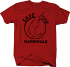 Save the Narwhals Funny Sealife Color T-Shirt