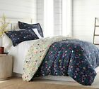 Boho Bloom Down Alternative 3-piece Ultra Plush Reversible Comforter Set image