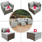 Outdoor Patio Rattan Sofa Furniture Set Combination Cushioned Pe Wicker Garden