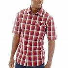 Wolverine Men's Ridgeline SS Dusty Red Plaid Shirt (W1202510-60-)